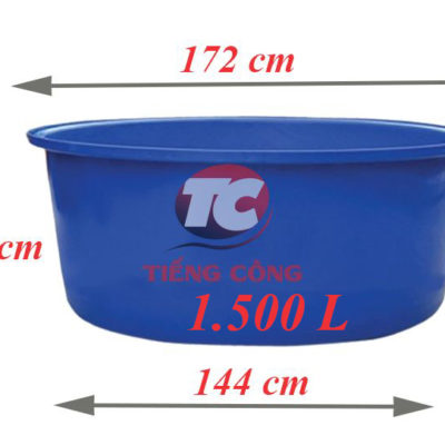 Thùng Nhựa Tròn Dung Tích Lớn 1500L Dệt Nhuộm Vải