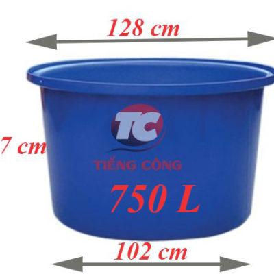 Thùng Nhựa Tròn Dung Tích Lớn 750L Dệt Nhuộm Vải