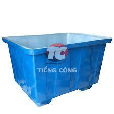 Thùng Nhựa Chữ Nhật Dung Tích 750L Có Chân