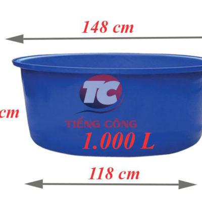 Thùng Nhựa Tròn Dung Tích Lớn 1000L Dệt Nhuộm Vải